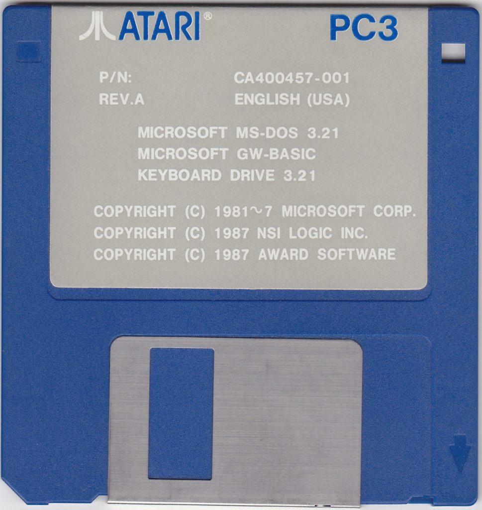 MS-DOS System Disks – Atari PC